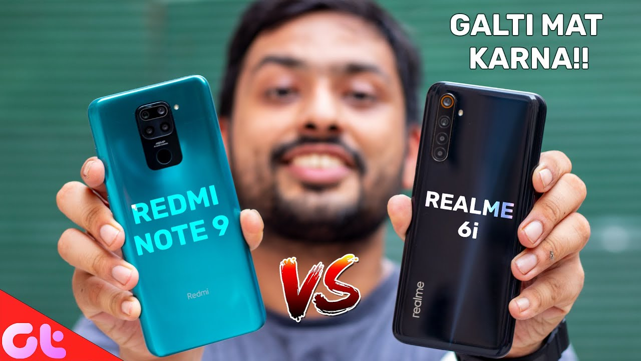 Redmi Note 9  vs Realme 6i Full Comparison with Camera and Gaming | AB GALTI MAT KARNA | GT Hindi