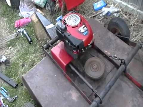 pull/tow behind mower/brush hog project part 13 trail ...