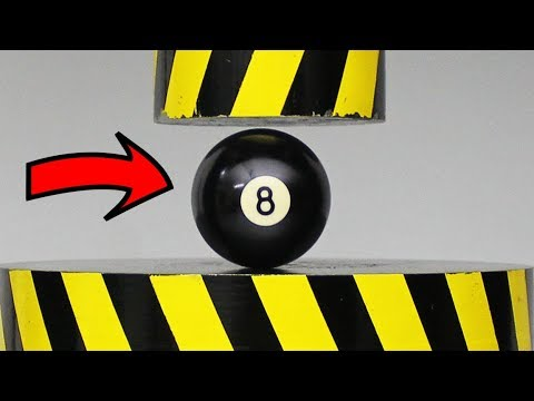 EXPERIMENT HYDRAULIC PRESS 100 TON vs Billiard ball