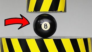 Billiard Balls - EXPERIMENT HYDRAULIC PRESS 100 TON vs Billiard ball