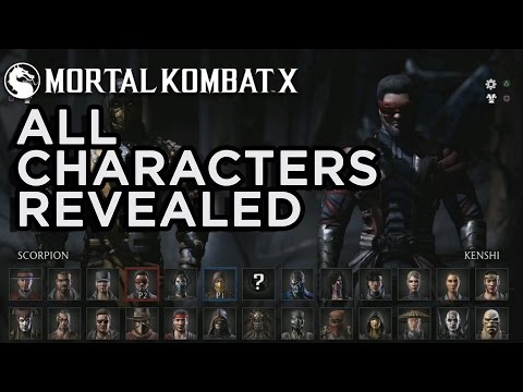 All Characters Revealed Mortal Kombat X Official Roster Youtube