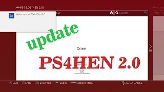 PS4HEN 2.0 Homebrew Enabler for PS4 5.05 via SiSTR0