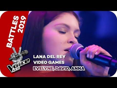 Lana Del Rey - Video Games (Evelyne, David, Anna)   Battles   The Voice Kids 2019   SAT.1