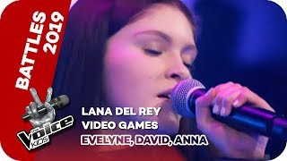Gambar cover Lana Del Rey - Video Games (Evelyne, David, Anna) | Battles | The Voice Kids 2019 | SAT.1