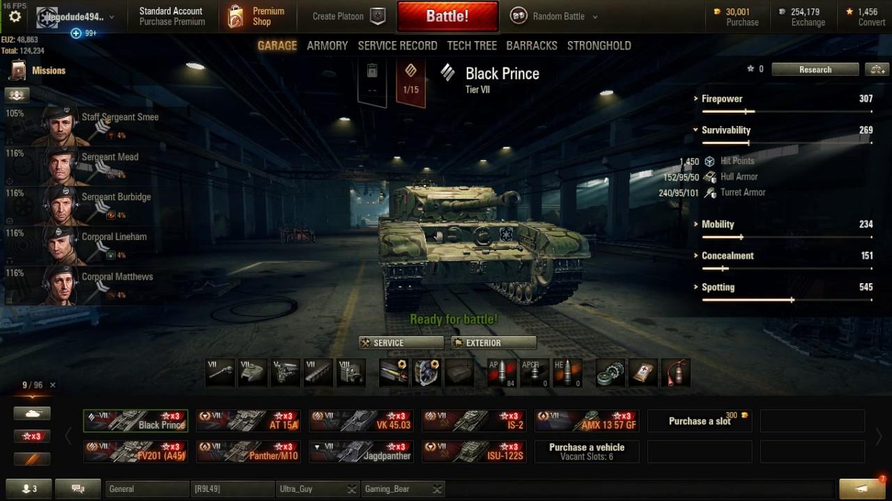 Churchill Black Prince Garage Review World Of Tanks