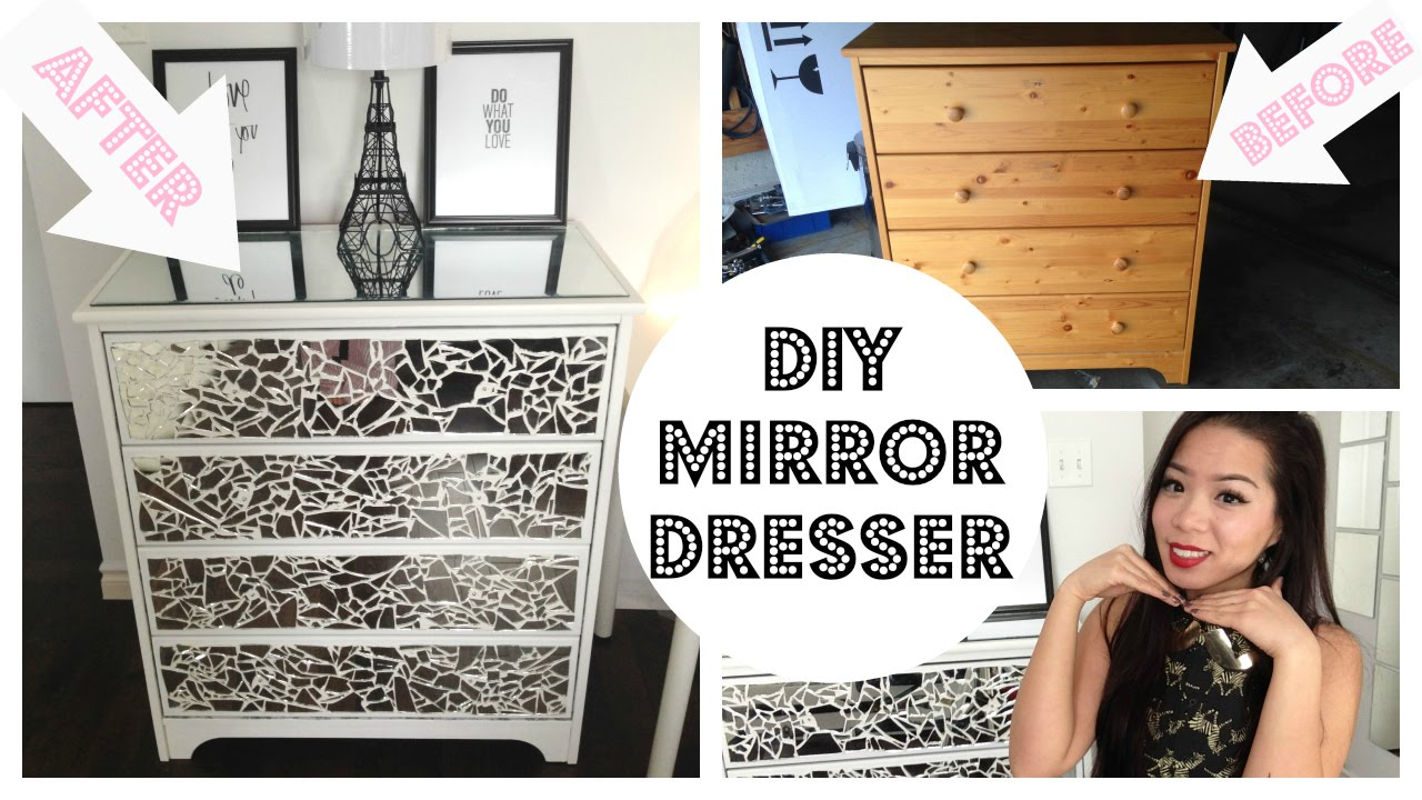 Diy Mirror Dresser Youtube