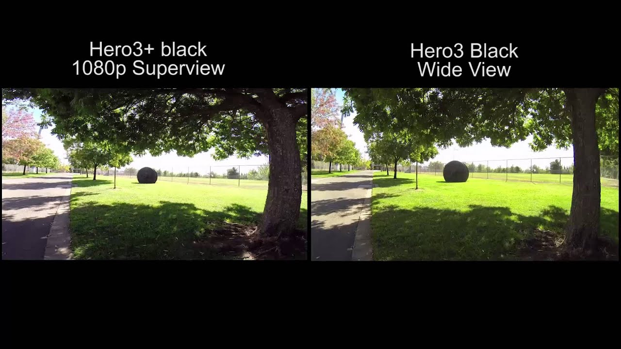 Hero3 Superview Vs Hero3 Wide View