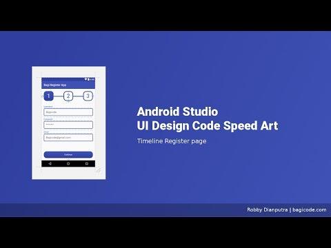 Timeline Register Page   Android Studio UI Design XML Speed Code