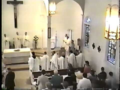 Part 1 ... Opening MASS - 50th Jubilee of St Peter Catholic Church Grenada MS 1941-1991