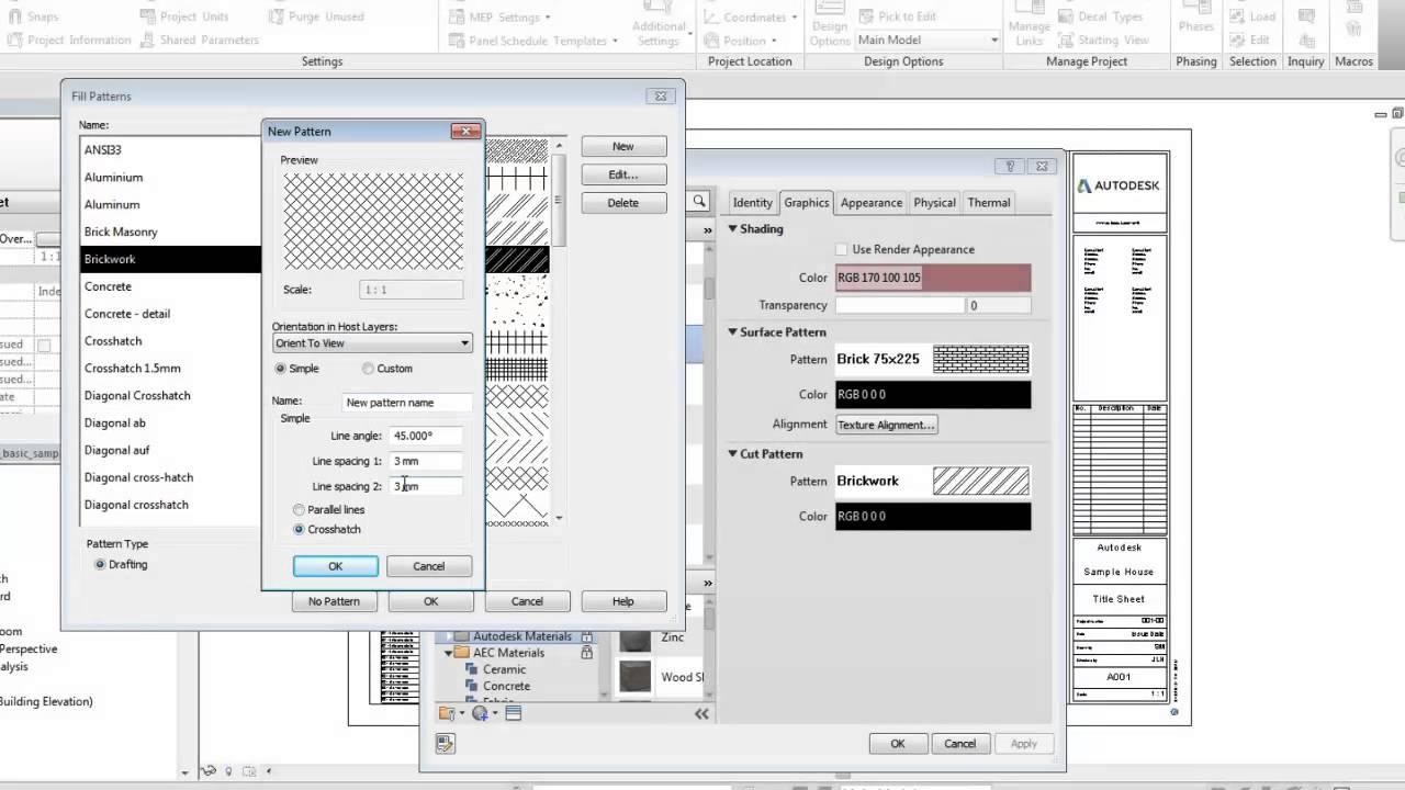 Autodesk Revit Create A Fill Pattern Youtube