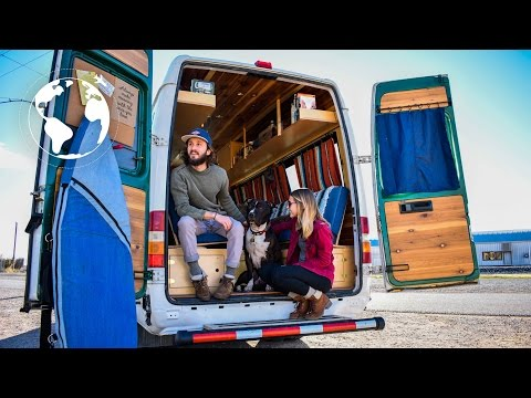 YOUNG COUPLE's Beautiful Hand-Crafted SPRINTER VAN Conversion