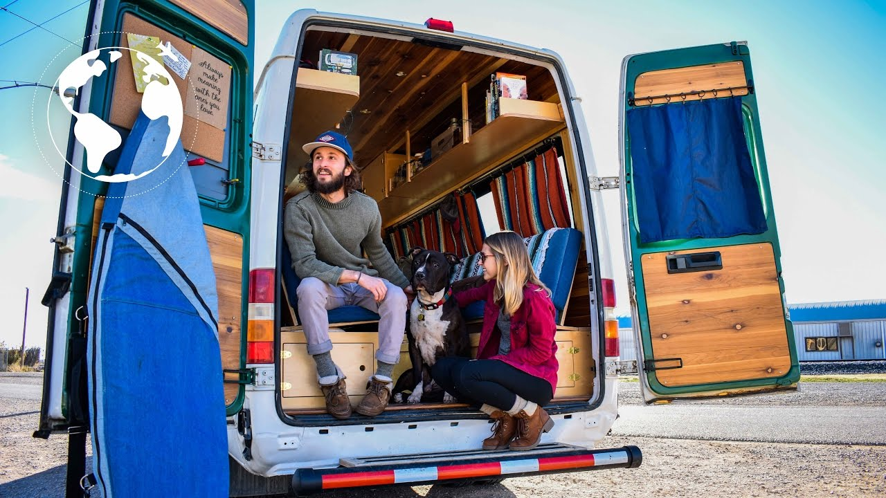 Young Couple S Beautiful Hand Crafted Sprinter Van