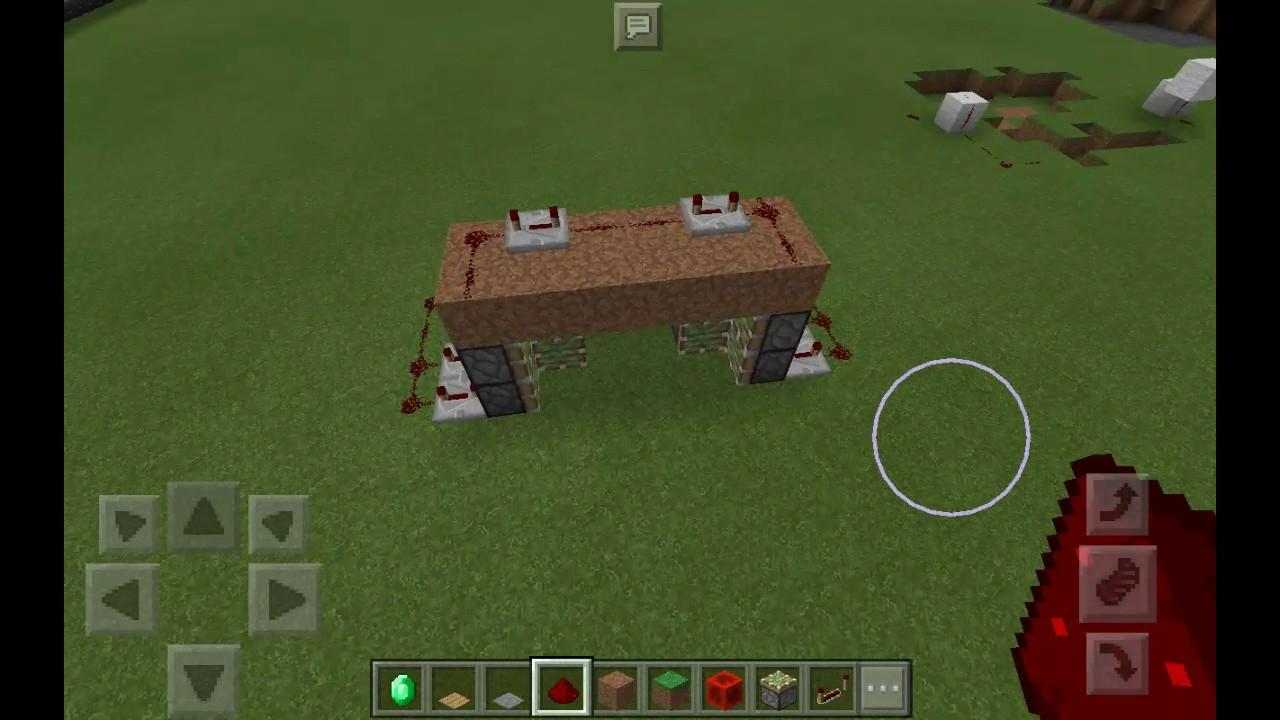minecraft pe eine geheime t r bauen lenation youtube. Black Bedroom Furniture Sets. Home Design Ideas