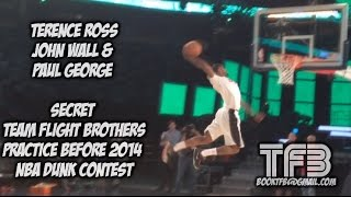 paul george terrence ross and john wall secret tfb practice b4 nba dunk contest   dunk of the day