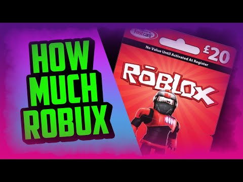 HOW MUCH ROBUX DO YOU GET FROM A £20 ROBLOX CARD - 20 pound roblox gift card redeeming