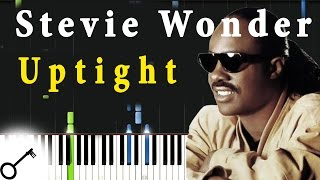 Stevie Wonder - Uptight [Piano Tutorial] Synthesia | passkeypiano