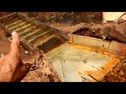 Alluvial Gold Prospecting - How To Set Up A River Sluice - Aussie Bloke Prospector
