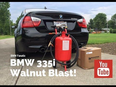 BMW 335i Valves Walnut Blasted!