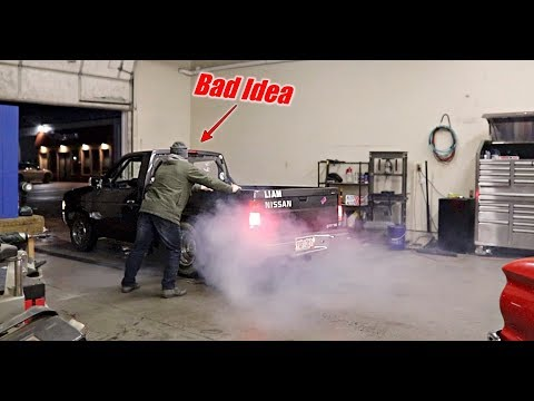 'Liam Nissan' Came By To Do A Shop BURNOUT!