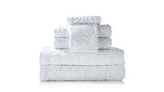Concierge Collection 6piece Jacquard Turkish Towel Set