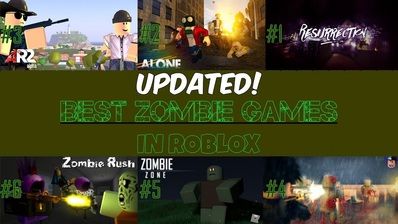 Best Roblox Zombie Games 2019 TOP 6 BEST ZOMBIE GAMES IN ROBLOX OF 2018 (UPDATED)   YouTube