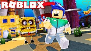 WE ARE ESCAPING THE HAUNTED SPONGE BOB IN ROBLOXAT!