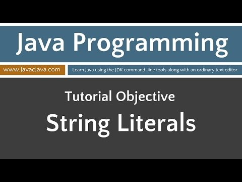 Learn Java Programming - String Literals