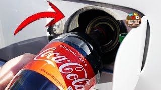 This is happen if you full on your car with COCA COLA