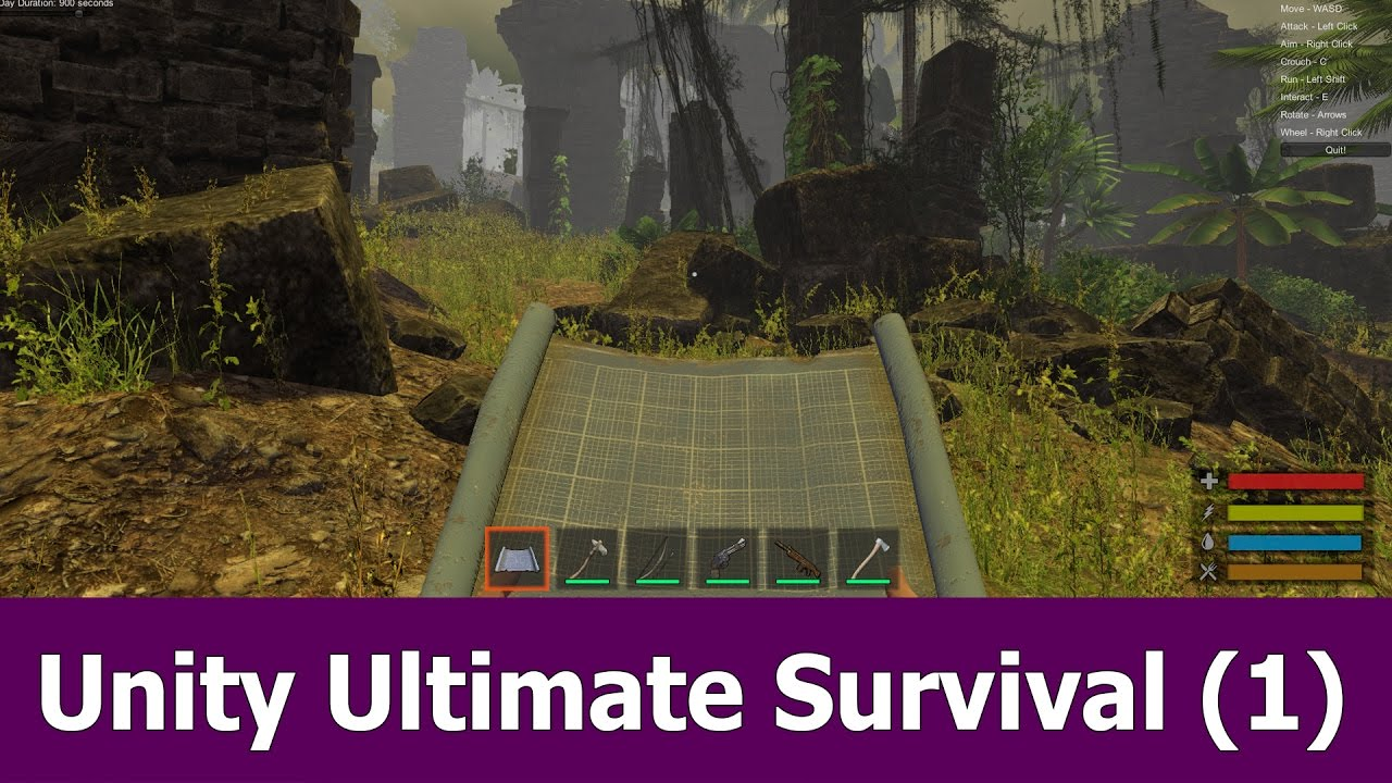 How to create a survival game with Unity : Getting Started