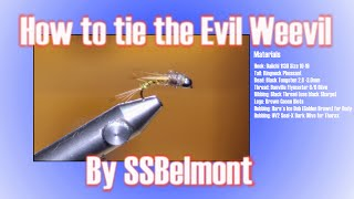 How to tie the Evil Weevil Fly Pattern SSBelmont on Fly - (As good as a Pheasant Tail)