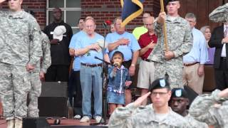Angelica Hale Sings National Anthem - 2014 Duluth Fall Festival (Georgia)