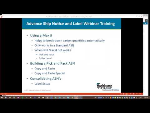 Transaction Manager ASN and Labeling Webinar - New UI