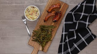 BBQ Ribs with Mustard Slaw and Spiced Green Beans | Dinner