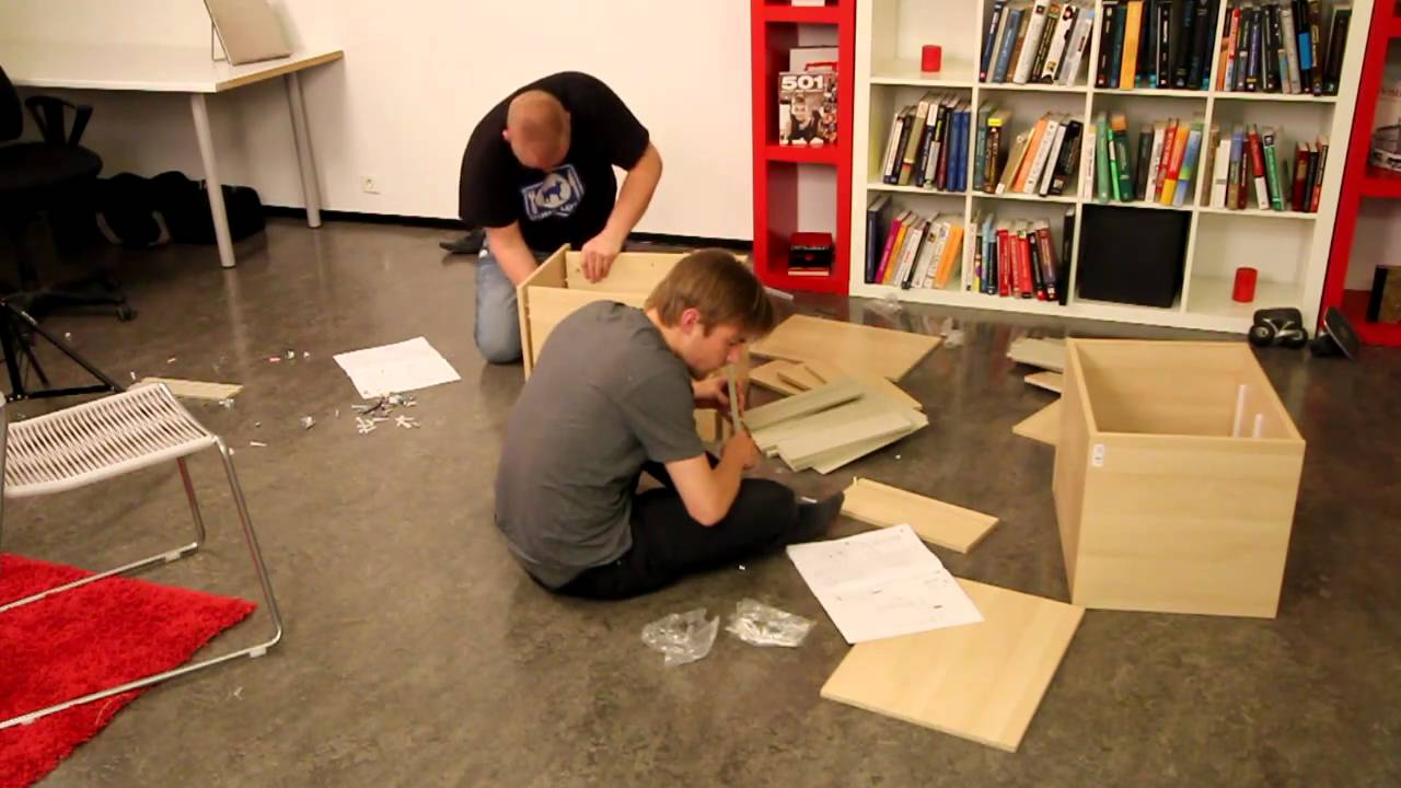 TWO DRUNK GUYS TRY TO ASSEMBLE IKEA FURNITURE - Dead Drunk ...