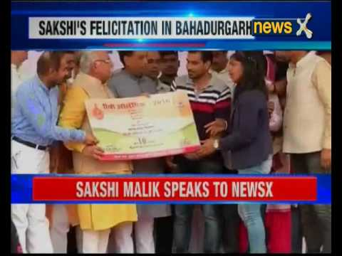 Haryana government felicitates Indian Olympian Sakshi Malik in Bahadurgarh