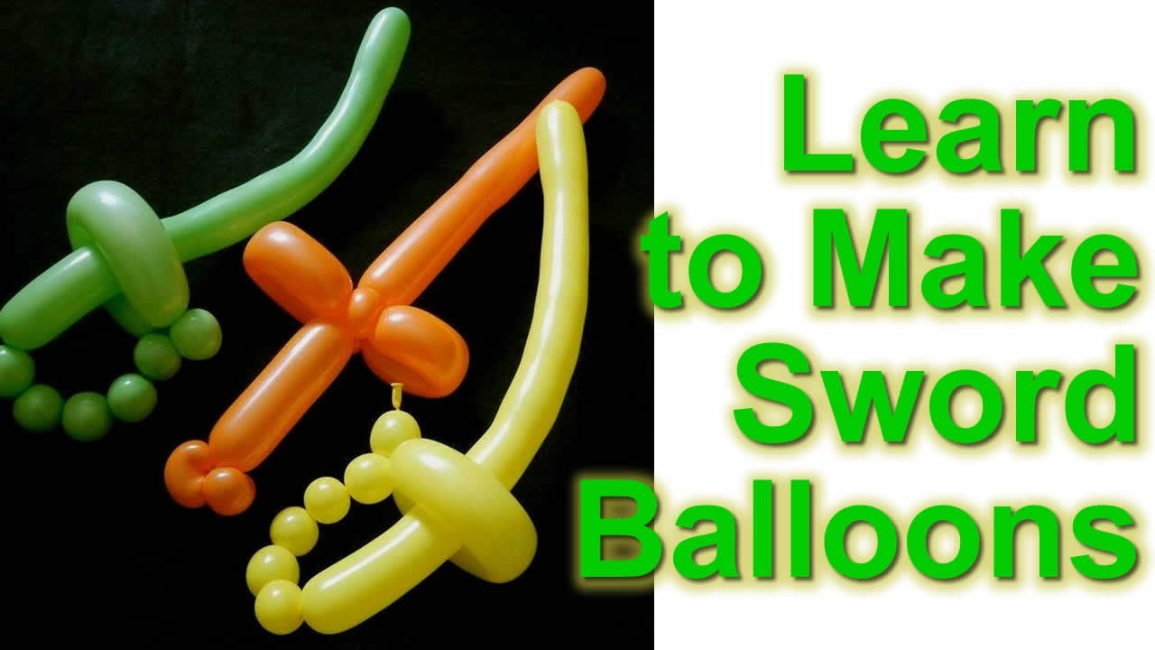 graphic relating to Balloon Modelling Instructions Printable identified as How towards Deliver a Balloon Sword: A Newcomers Comprehensive Expert
