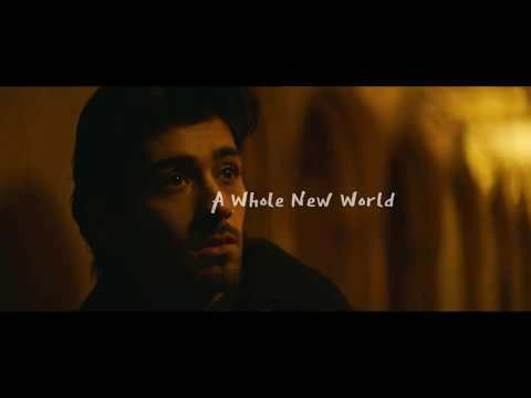 "ZAYN, Zhavia Ward - A Whole New World (Lyrics Video) (From ""Aladdin"")"