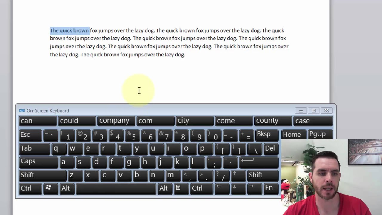 How to copy using the keyboard