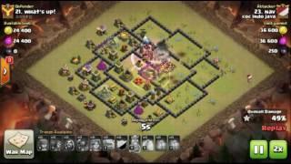 Base war TH 10 terkuat | Aneh! TH 10 prematur tahan serangan berkali2 (replay) - type 1
