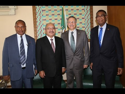 Visit to ACP House by The Prime Minister of Papua New Guinea, Mr Peter O'Neill