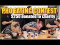 PHO Eating Contest!!! 6lbs in TOTAL!!! $250 donated to charity!! at Pholanthropy #RainaisCrazy