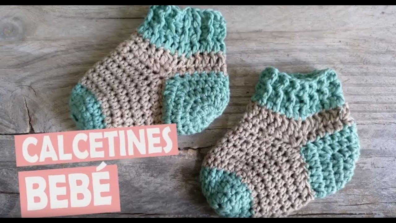 Calcetines para bebé a crochet - YouTube