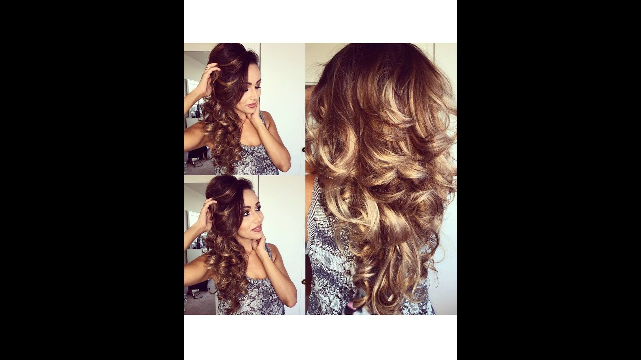 Easy And Bouncy Voluminous Curls Using Hot Rollers Hair Tutorial