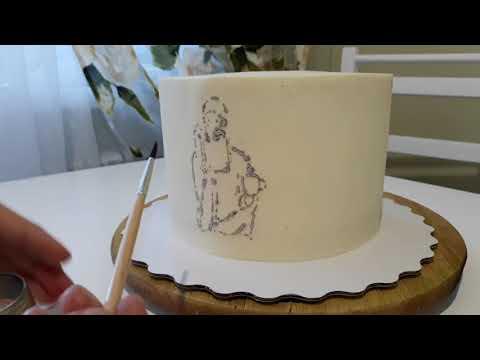 Перенос рисунка на торт. Рисунок на креме.