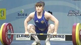 2013 European Weightlifting Championships, Women 53 kg \ Тяжелая Атлетика. Чемпионат Европы