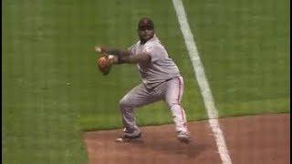 MLB Longest Infield Throws