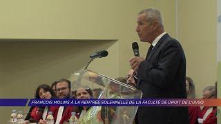 Yvelines | François Molins à la rentrée solennelle de la faculté de droit de l'UVSQ