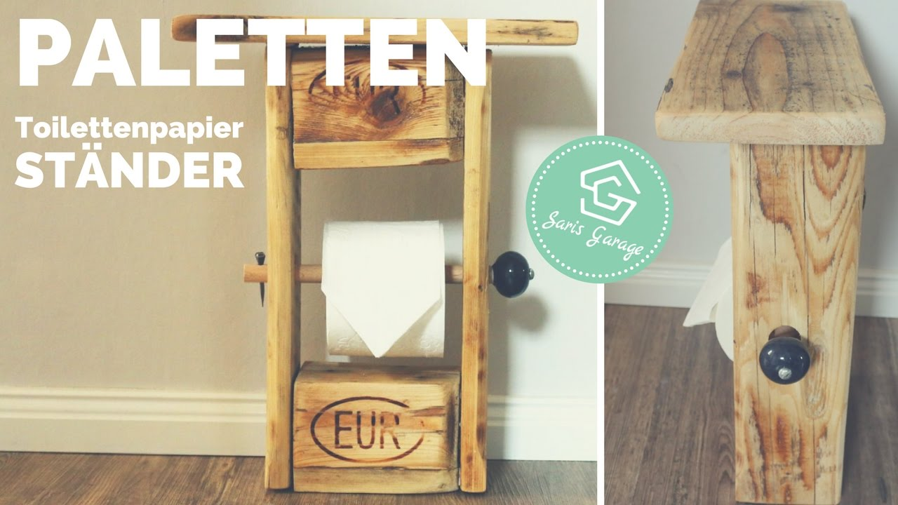 toilettenpapierhalter aus paletten upcycling diy klopapierhalter selber machen how to. Black Bedroom Furniture Sets. Home Design Ideas