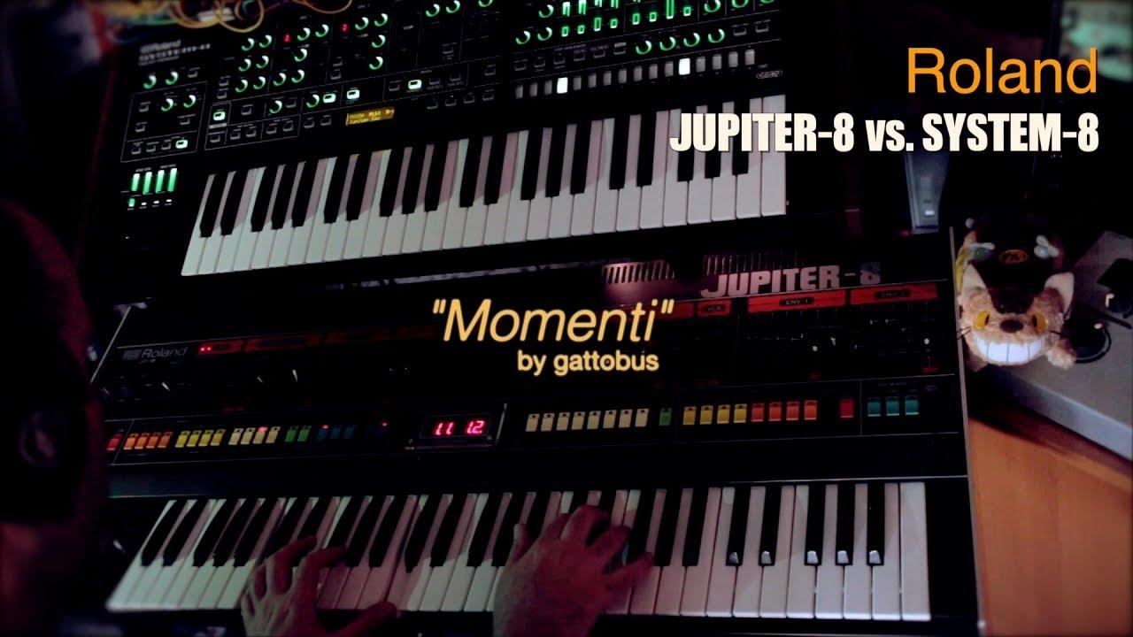 """Roland JUPITER-8 vs SYSTEM-8 - """"Momenti"""" by gattobus"""