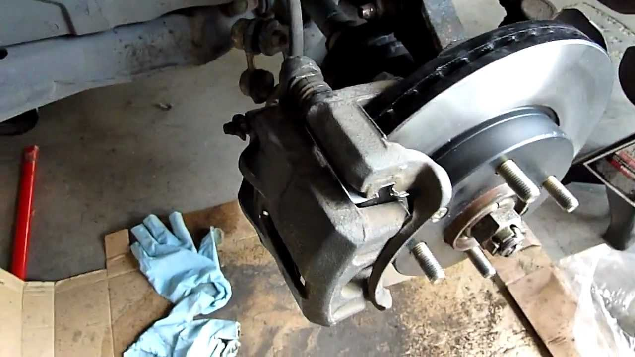 How To Replace Front Brakes And Rotor On A Front Wheel Drive Hyundia Elantra Youtube